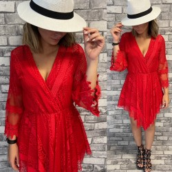ROBE SHORT EE49 ROUGE