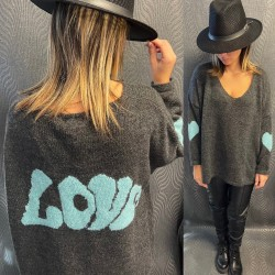 PULL VMH2 GRIS FONCE