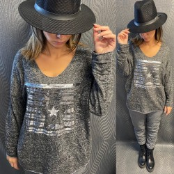PULL EH11 GRIS FONCE