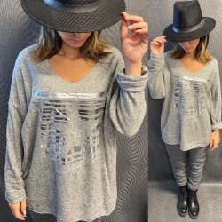 PULL EH11 GRIS