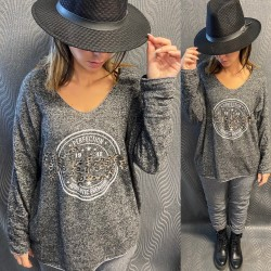 PULL EH12 GRIS FONCE