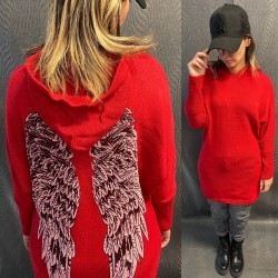 PULL CAPUCHE EH13 ROUGE